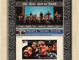 nealmorseband.com screenshot