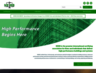 nebb.org screenshot