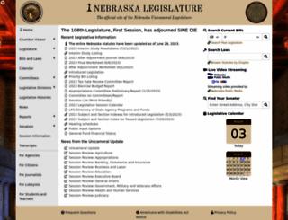 nebraskalegislature.gov screenshot