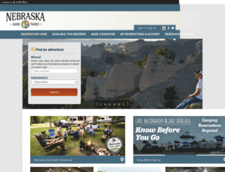 nebraskastateparks.reserveamerica.com screenshot