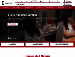 nebrija.com screenshot