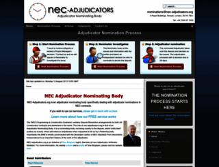 nec-adjudicators.org screenshot