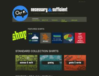 necessarysufficient.net screenshot