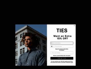 neckties.com screenshot
