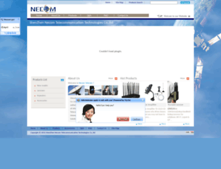 necom-telecom.com screenshot
