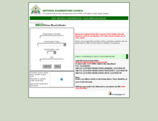 neconigeria.org screenshot