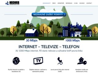 necoss.cz screenshot