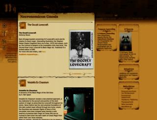 necronomicongnosis.blogspot.com screenshot