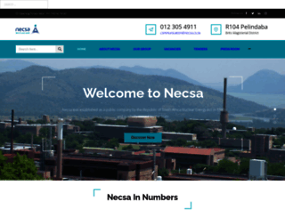 necsa.co.za screenshot