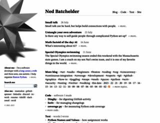 nedbatchelder.com screenshot