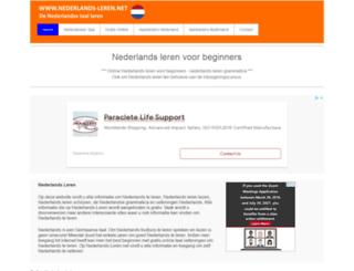 nederlands-leren.net screenshot