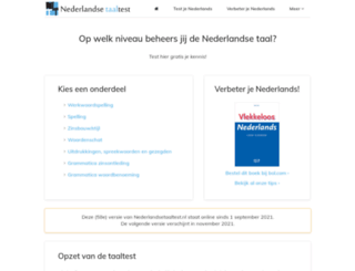 nederlandsetaaltest.nl screenshot