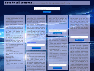 needtotellsomeone.com screenshot