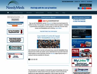needymeds.com screenshot