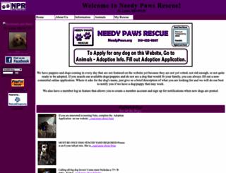 needypaws.org screenshot