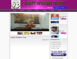 needywelfaretrust.org screenshot