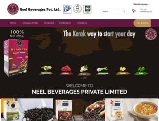 neelbeverages.com screenshot