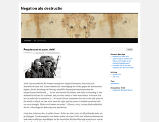 negationalsdestructio.blogsport.at screenshot