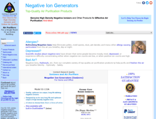 negativeiongenerators.com screenshot