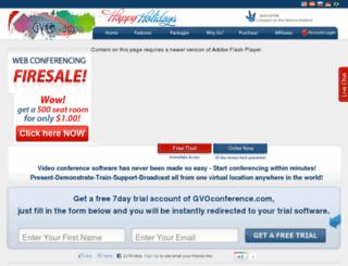 negocioenlared.gvoconference.com screenshot