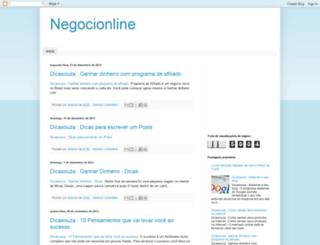 negocionline1.blogspot.com.br screenshot