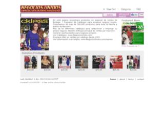 negociosunidos.ecrater.com screenshot