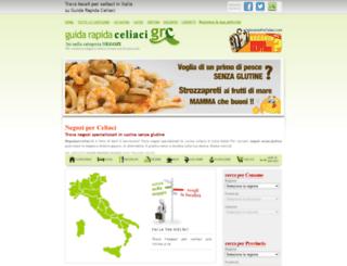 negoziperceliaci.com screenshot