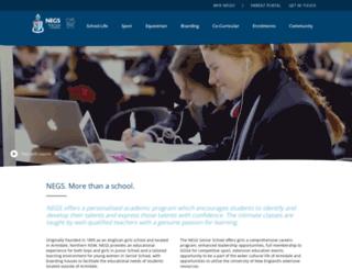 negs.nsw.edu.au screenshot