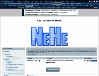 nehe.developpez.com screenshot