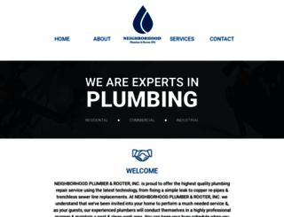 neighborhoodplumber.com screenshot