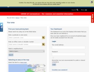 neighbourhoodpolicing.devon-cornwall.police.uk screenshot