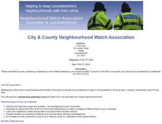 neighbourhoodwatchleicester.net screenshot