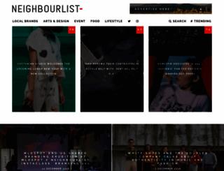 neighbourlist.com screenshot