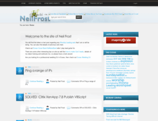 neilfrost.com screenshot
