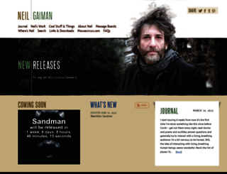 neilgaiman.com screenshot