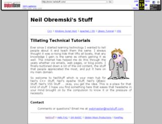 neilstuff.com screenshot