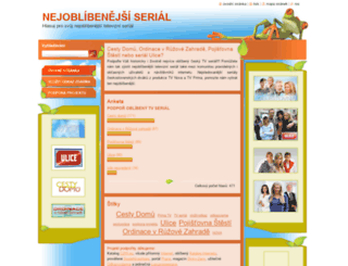 nejoblibenejsiserial.webnode.cz screenshot