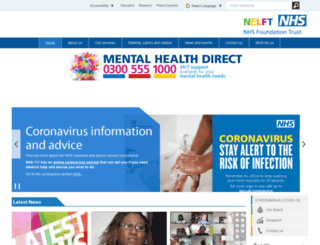nelft.nhs.uk screenshot
