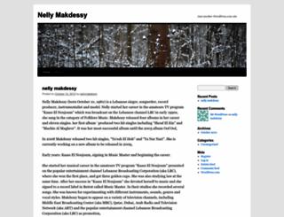 nellymakdessy.wordpress.com screenshot
