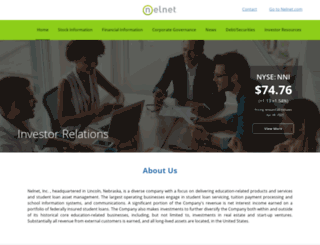 nelnetinvestors.com screenshot
