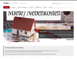 nema-immobilien.de screenshot