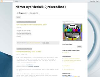 nemetnyelvlecke.blogspot.hu screenshot
