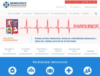 nemocnice-pardubice.cz screenshot