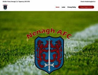 nenaghafc.ie screenshot