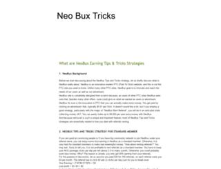 neo-buxtricks.blogspot.com screenshot