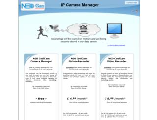 neo.ipcameramanager.com screenshot