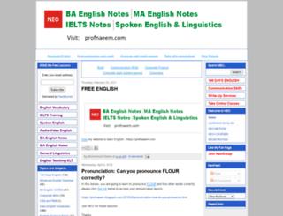 neoenglishsystem.blogspot.co.nz screenshot