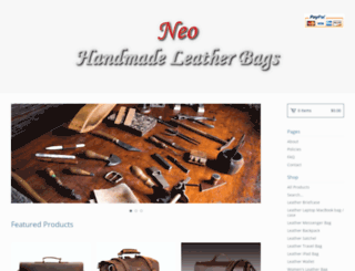 neoleatherbags.bigcartel.com screenshot