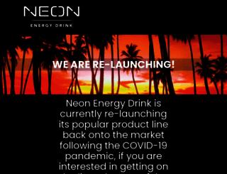 neonenergydrink.com screenshot