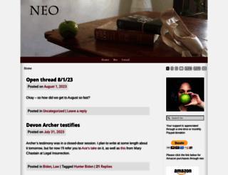 neoneocon.com screenshot
